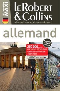 Le Robert & Collins allemand maxi : français-allemand, allemand-français : 250.000 mots, expressions et traductions, guide de conversation, grammaire + 6.000 phrases audio