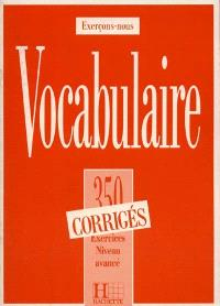 Vocabulaire Illustre 350 Exercices Niveau Avance Corriges Librairie Mollat Bordeaux