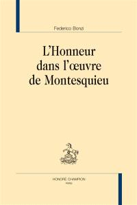 L'honneur dans l'oeuvre de Montesquieu