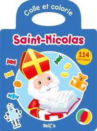 Colle et colorie Saint-Nicolas