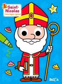 Saint-Nicolas : coloriages rigolos