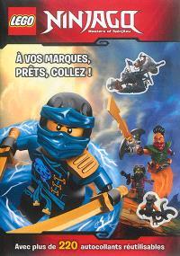 Lego Ninjago, masters of Spinjitzu : à vos marques, prêts, collez ! : avec plus de 200 autocollants réutilisables