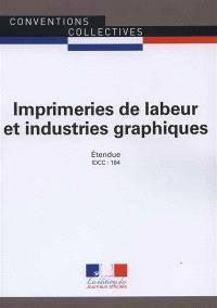 Imprimeries de labeur et industries graphiques : convention collective nationale du 29 mai 1956, étendue par arrêté du 22 novembre 1956 : IDCC 184