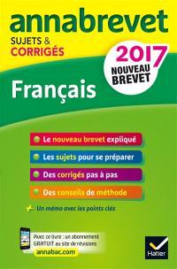 Français : nouveau brevet 2017