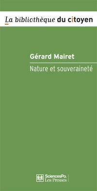 Nature et souveraineté : philosophie politique en temps de crise environnementale