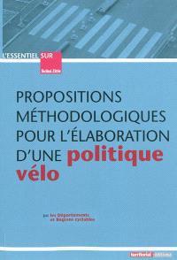 Propositions méthodologiques pour l'élaboration d'une politique vélo