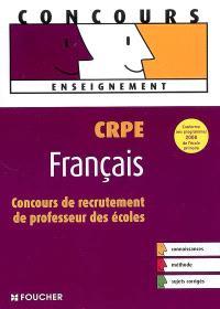 Français CRPE : concours de recrutement de professeur des écoles