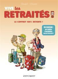 Vive les retraités en BD ! : le coffret 100 % détente !