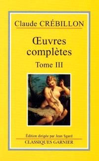 Oeuvres complètes. Volume 3