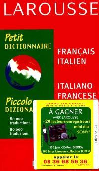 Petit dictionnaire français-italien, italiano francese