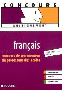 Français, concours de recrutement de professeur des écoles
