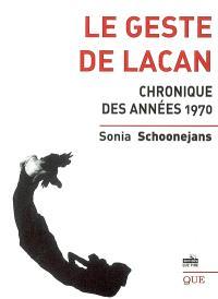 Le geste de Lacan