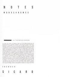 Notes monochromes