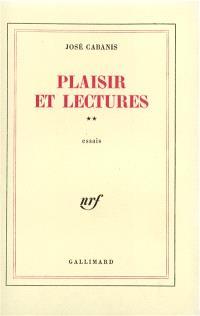 Plaisir et lectures. Volume 2