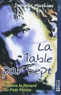 La table par sept. Volume 1, Comme le renard du petit prince
