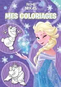 La reine des neiges : magie des aurores boréales : mes coloriages