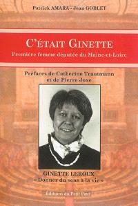 C'était Ginette : première femme députée de Maine-et-Loire
