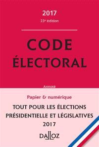 Code électoral 2017 annoté