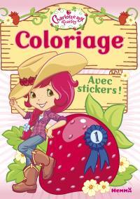 Charlotte aux fraises : coloriage avec stickers !