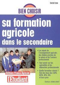 Bien choisir sa formation agricole dans le secondaire