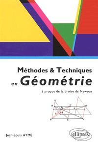 Méthodes et techniques en géométrie : à propos de la droite de Newton