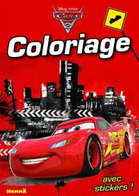 Cars 2 : coloriage avec stickers !