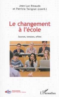 Le changement à l'école : sources, tensions, effets