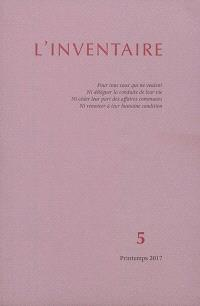 Inventaire (L'). n° 5