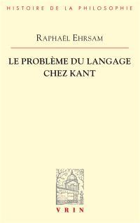 Le problème du langage chez Kant