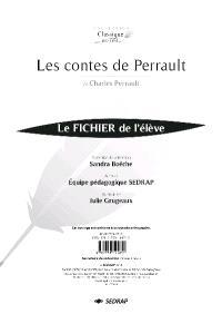 Les contes de Perrault : le fichier de l'élève