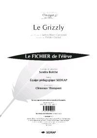 Le grizzly : le fichier de l'élève