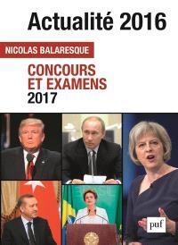 Actualité 2016 : concours et examens 2017