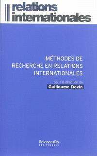 Méthodes de recherche en relations internationales