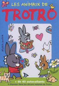 Les animaux de Trotro : + de 40 autocollants à disposer dans les décors naturels de Trotro