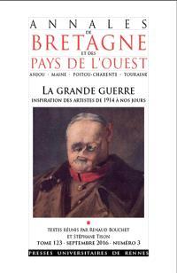 Annales de Bretagne et des pays de l'Ouest. n° 3 (2016), La Grande Guerre : inspiration des artistes de 1914 à nos jours