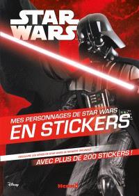 Mes personnages de Star Wars en stickers