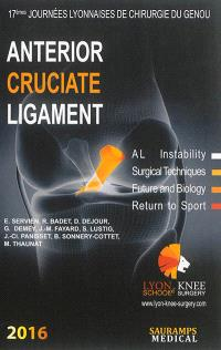 Anterior cruciate ligament : AL instability, surgical techniques, future and biology, return to sport