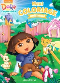 Dora l'exploratrice : maxi coloriage animaux : une histoire d'animaux