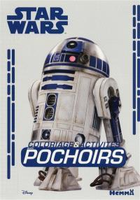 Star Wars coloriage & activités : avec pochoirs : R2-D2