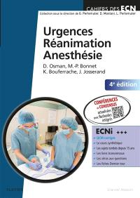 Urgences, réanimation, anesthésie