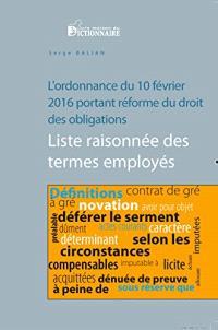 Index méthodique et grammatical des principaux termes de l'ordonnance du 10 février 2016 portant réforme du droit des obligations