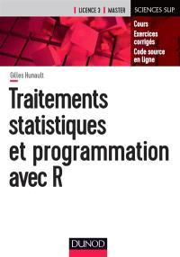 Traitements statistiques et programmation avec R : cours, exercices corrigés, code source en ligne