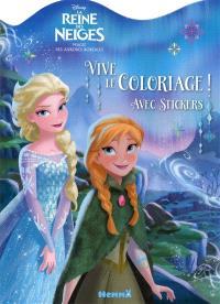 La reine des neiges, magie des aurores boréales : vive le coloriage !