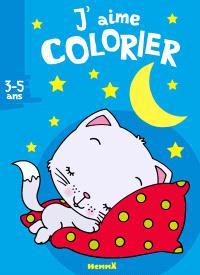 J'aime colorier 3-5 ans : chaton