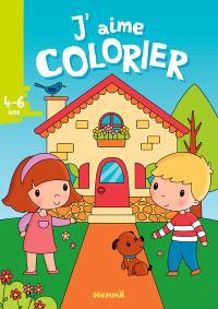 J'aime colorier, 4-6 ans : la maison