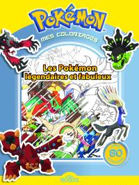 Pokémon, mes coloriages : les Pokémon légendaires et fabuleux