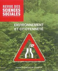 Revue des sciences sociales. n° 55, Environnement et citoyenneté