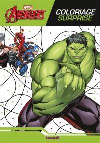 Avengers : coloriage surprise