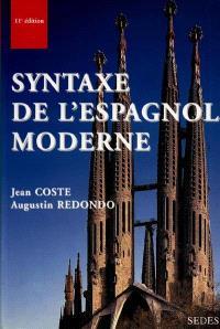 Syntaxe de l'espagnol moderne