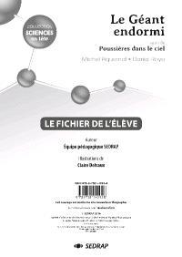 Le géant endormi; Suivi de Poussières sur la glace, Michel Piquemal, Daniel Royo : le fichier de l'élève